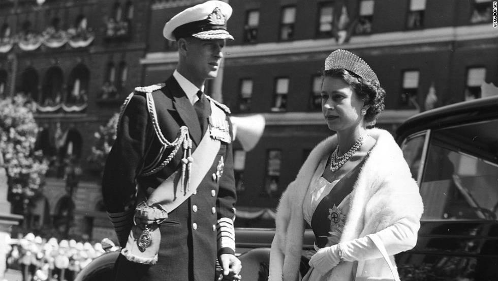 Queen Elizabeth II and Prince Philip arrive at a State Opening of Parliament ceremony in Melbourne, Australia in 1954. It was her first of many visits to the Commonwealth country.