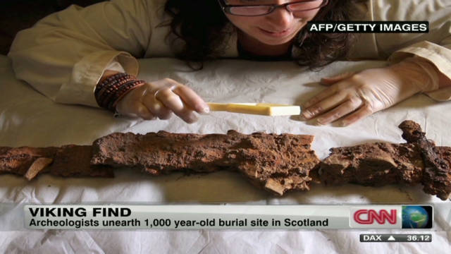 Viking boat burial found