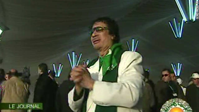 Moammar Gadhafi's colorful history