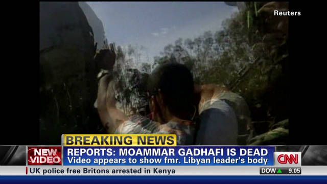 Video reportedly shows Gadhafi dead