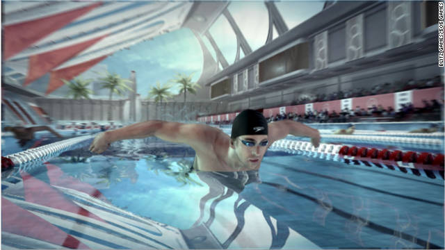"Olympic swimming champ Michael Phelps has a new video game for Xbox 360's Kinect,  ""Michael Phelps: Push the Limit."""