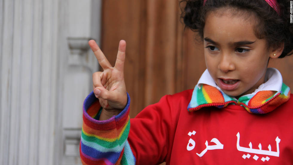 Her sister, eight-year-old Bilquees, was also among the crowds which gathered at the embassy on news of the former dictator's death.