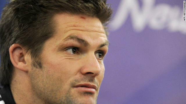 New Zealand captain Richie McCaw faces the media ahead of Sunday's Rugby World Cup final