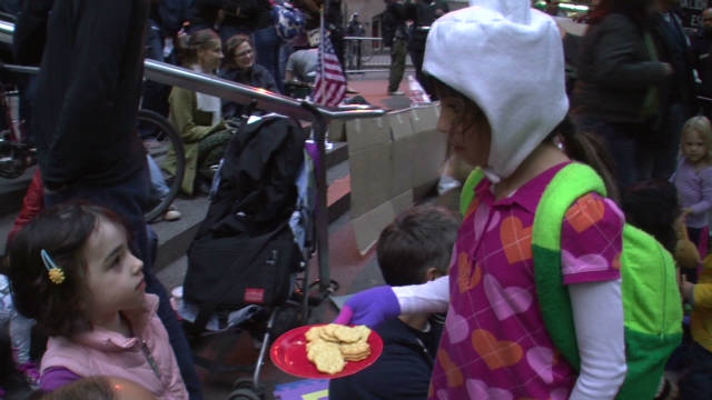 Kids join Occupy Wall Street protests