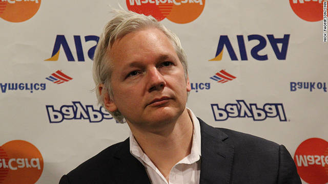WikiLeaks founder Julian Assange takes questions during a press conference at the Frontline Club in London on October 24.