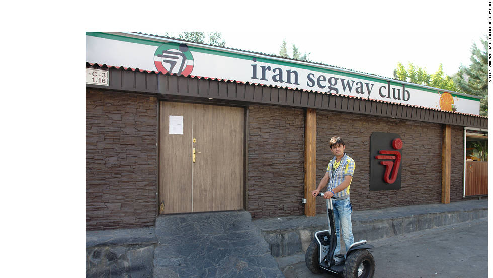 A Segway club is among the more unexpected sights in Tehran's leisure landscape.