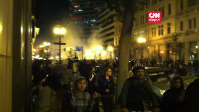 Tear gas fired at Occupy Oakland