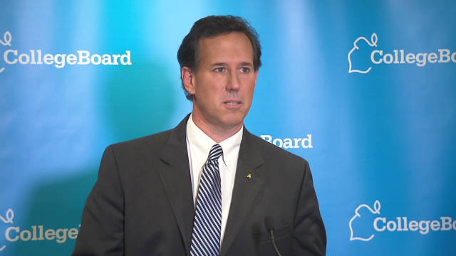 Santorum:  'I would never skip a debate'