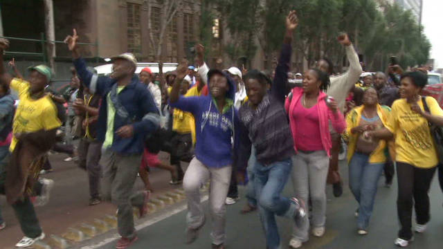S. African youth ask for economic freedom