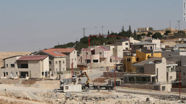 New houses appear in the Israeli West Bank settlement of Qedar on the outskirts of Jerusalem.