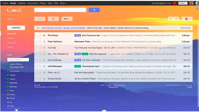 There will be a variety of new changes to Gmail that will give users more control over the look of the service.