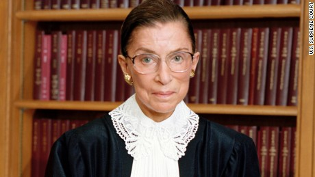Official portrait of U.S. Supreme Court Justice Ruth Bader Ginsburg.