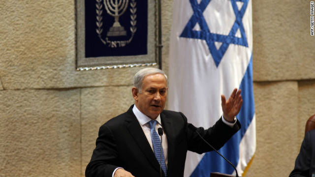 Israeli Prime Minister Benjamin Netanyahu addresses the opening of the winter session of the Israeli parliament.