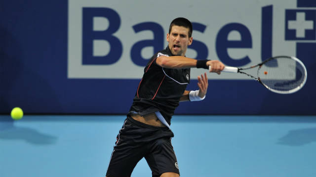 Novak Djokovic took under an hour to power into the quarterfinals of the Swiss Indoors event