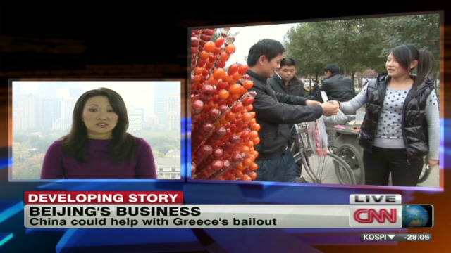 China could help with Greece's bailout