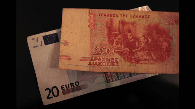 Drachma vs. the euro as Greek currency