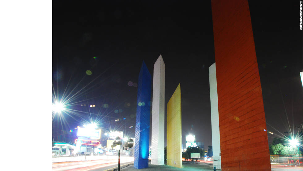 "The Torres de Satelite sculpture by Luis Barragan in Mexico City gives a perspective of the city that ""I love very much,"" says Adjaye. Picture courtesy of <a href=""http://www.sieteyuno.com/"" target=""_blank"">Ochthophous</a>."