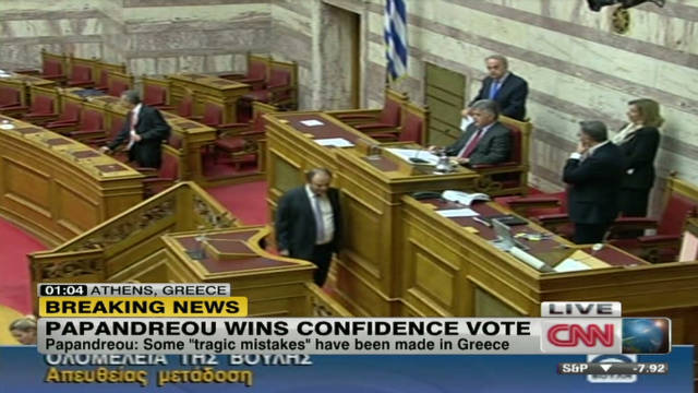 boulden papandreou wins confidence vote_00033212