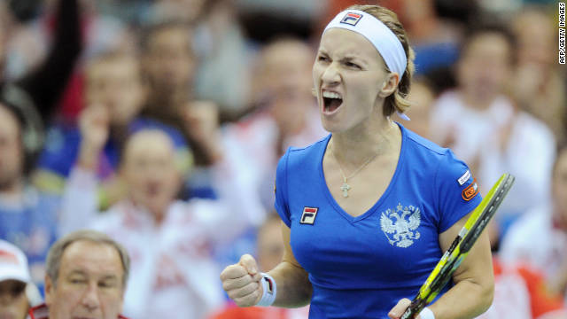 Russia's Svetlana Kuznetsova has now won five of her seven matches in Fed Cup finals.