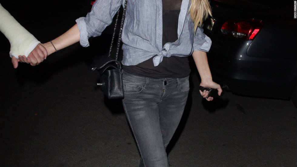 Audrina Patrdige leaves a bowling lounge in California.
