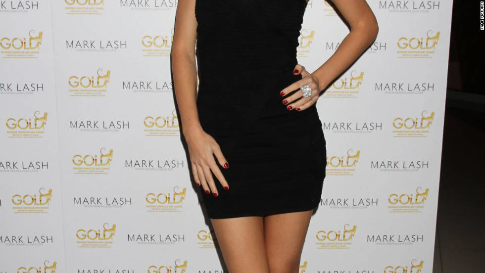 Jayde Nicole attends a jewelry showcase in Las Vegas.