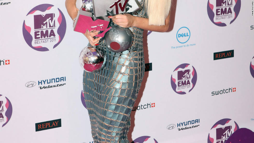 Lady Gaga attends the MTV Europe Music Awards in Belfast, Ireland.