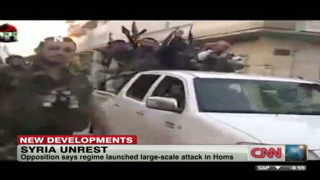 Report: Syrian protesters targeted