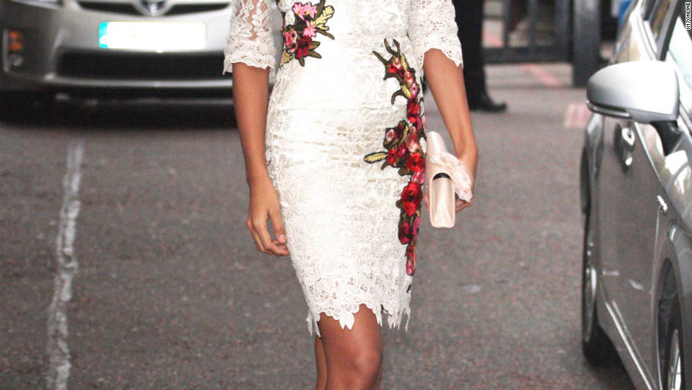 Newly crowned Miss World 2011, Ivian Lunasol Sarcos Colmenares, arrives at a studio in London.