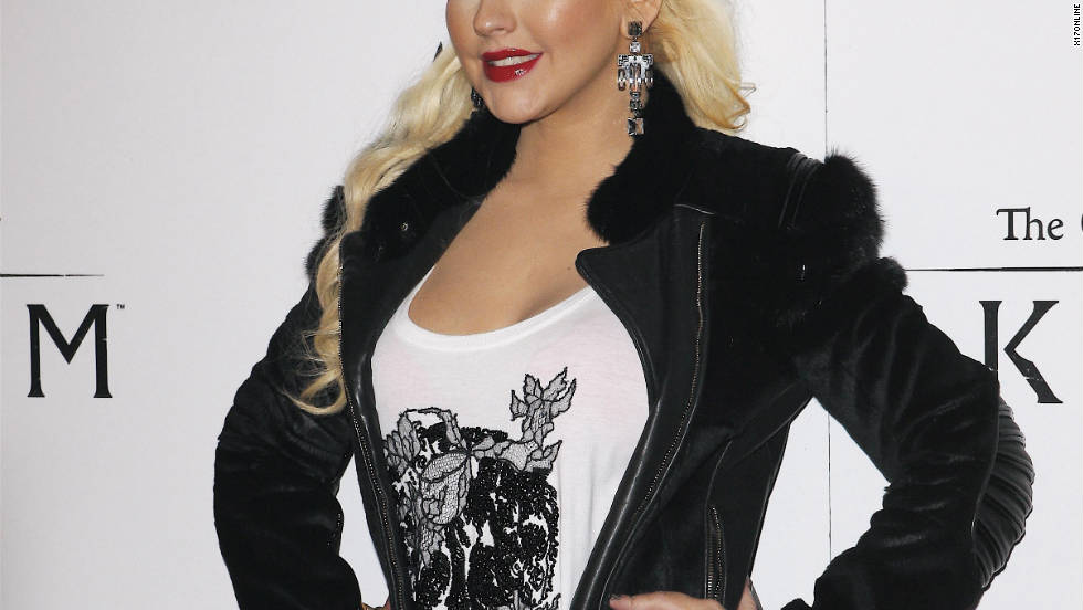 Christina Aguilera attends an event in Los Angeles.