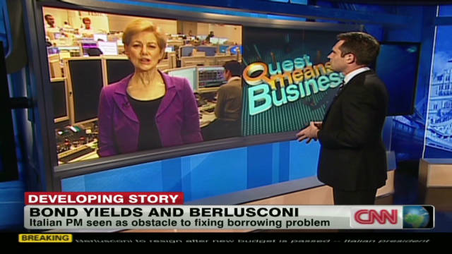 Bond yields and Berlusconi