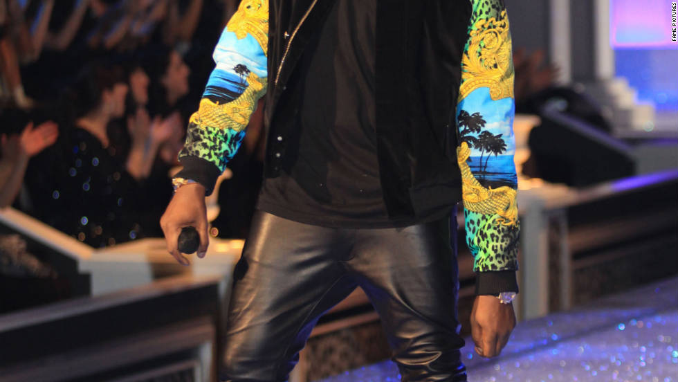 Kanye West performs at the Victoria's Secret Fashion Show in New York.