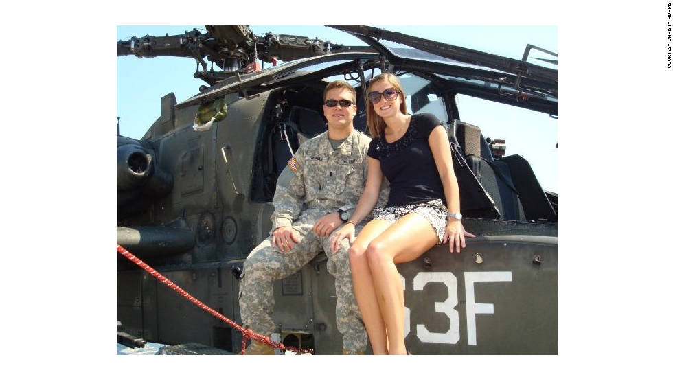 "Christy Adams <a href=""http://ireport.cnn.com/docs/DOC-701573"">met Cpt. Merritt Thomas</a> at a Christmas party in 2008 and the two have been together ever since. ""Merritt is happiest when he is around the people he loves,"" Adams said. 'He is usually the center of attention (no complaining on his part, I might add) and he loves making people smile and laugh. His heart is so big, I don't know how it fits in his chest.'"