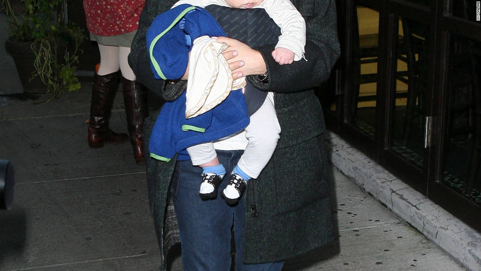Selma Blair roams around New York City with her son.