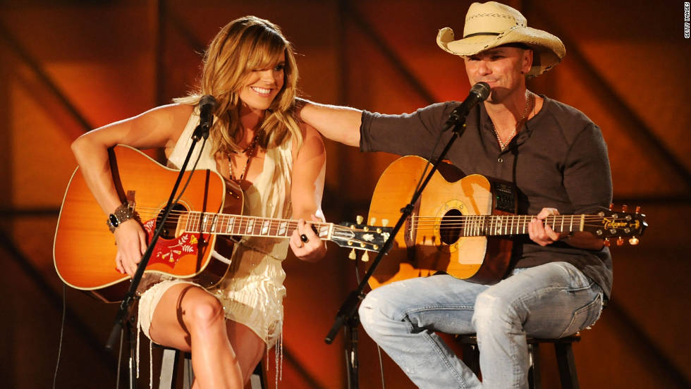 "Grace Potter and Kenny Chesney perform their hit duet, ""You and Tequila,"" which was named music video of the year."