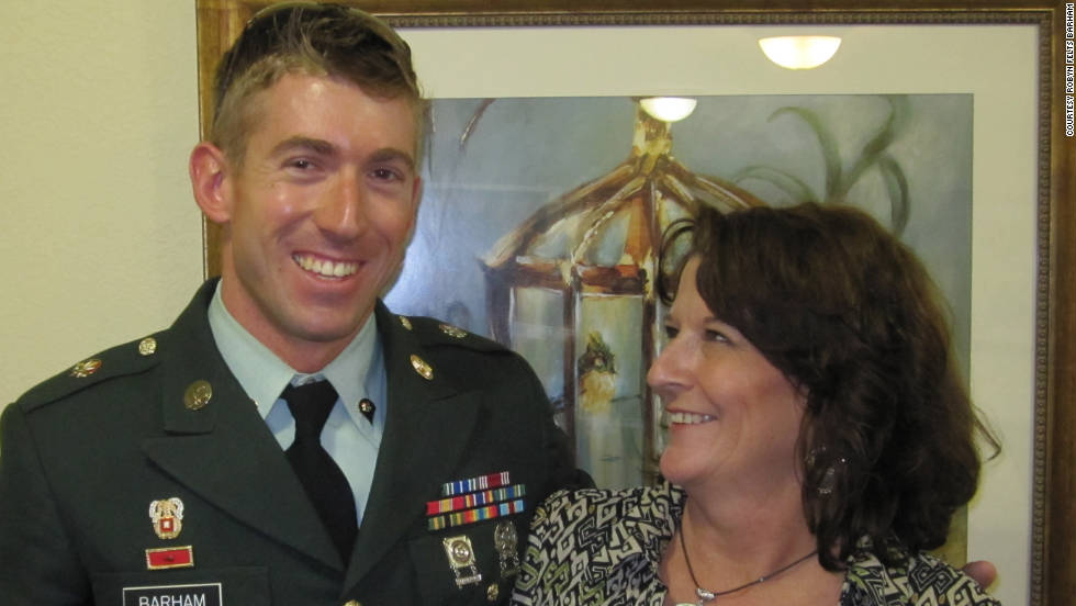 "Robyn Barham <a href=""http://ireport.cnn.com/docs/DOC-700356"">posted this tribute to her son</a>, Robert Barham, who is currently serving in the U.S. Army. She says her son ""strives to do his best"" and he recently got promoted to sergeant. Barham says it's important to pay respect to our veterans because, ""the sacrifices made by our armed servicemen and women can never be honored enough.  We are free today because of our active duty and veterans of the past. I truly thank him for his hard work and his accomplishments since becoming a soldier."""