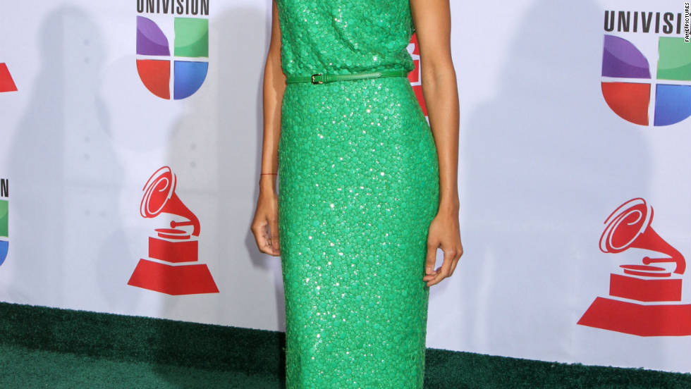 Zoe Saldana attends the 12th Annual Latin Grammy Awards in Las Vegas.