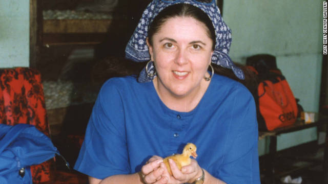 Ann Dunham in Bali in the 1990s (Picture courtesy of East West Center Gallery, Hawaii)