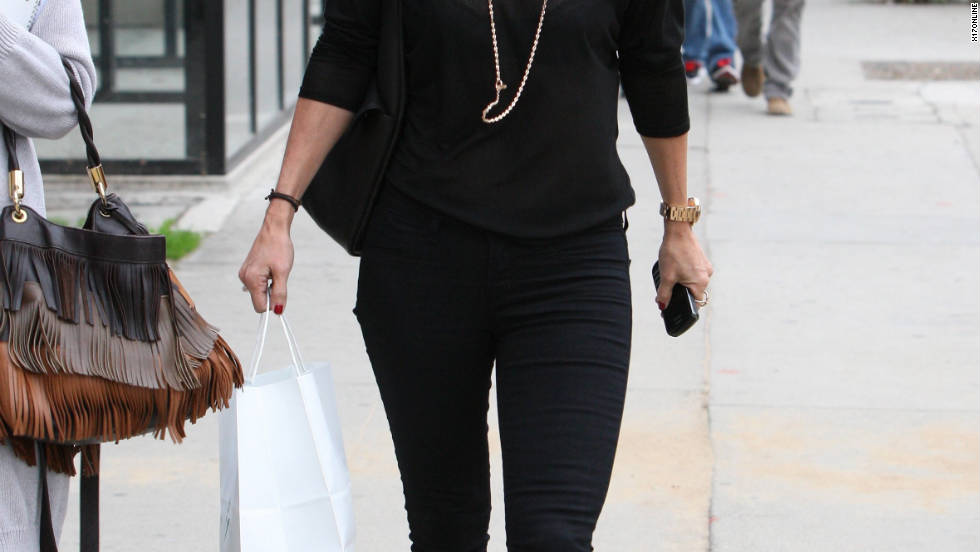 Courtney Cox goes shopping in Los Angeles.