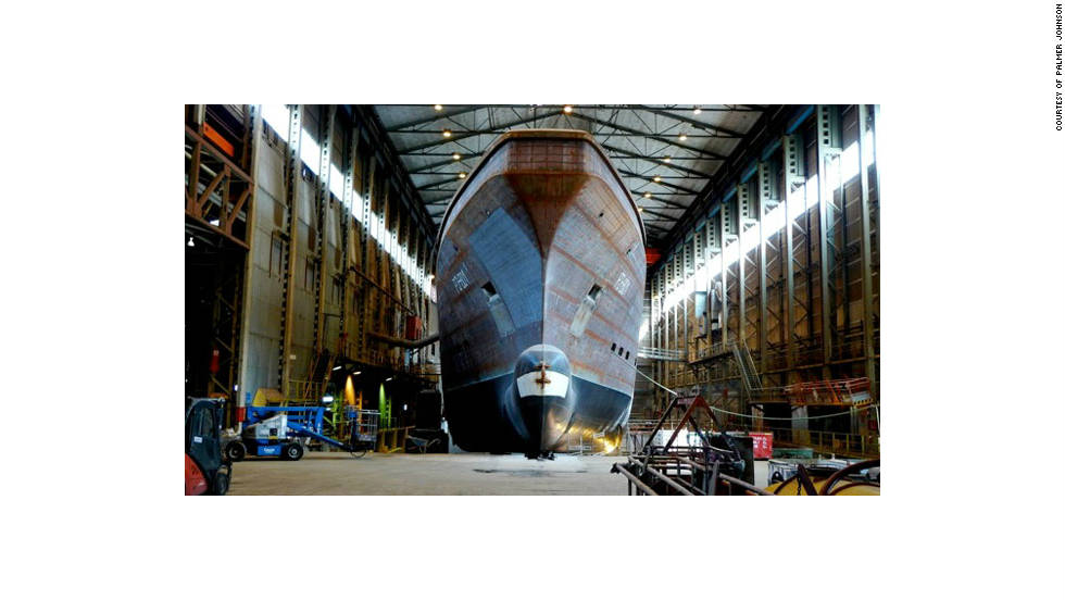 The hull and medium speed diesel engine are designed with the latest technology to make the yacht as green as possible.