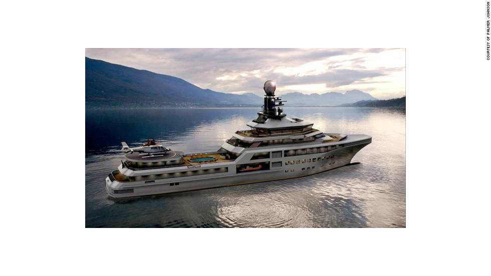 The PJ World yacht, with a price tag of more than €110m ($150m), is designed to be a luxury home on water.