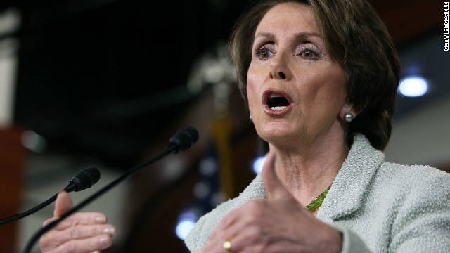 House Minority Leader Nancy Pelosi criticized a CBS News report and defended her record on fighting credit-card companies.