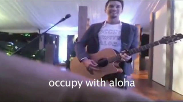 Musician 'occupies' APEC Dinner
