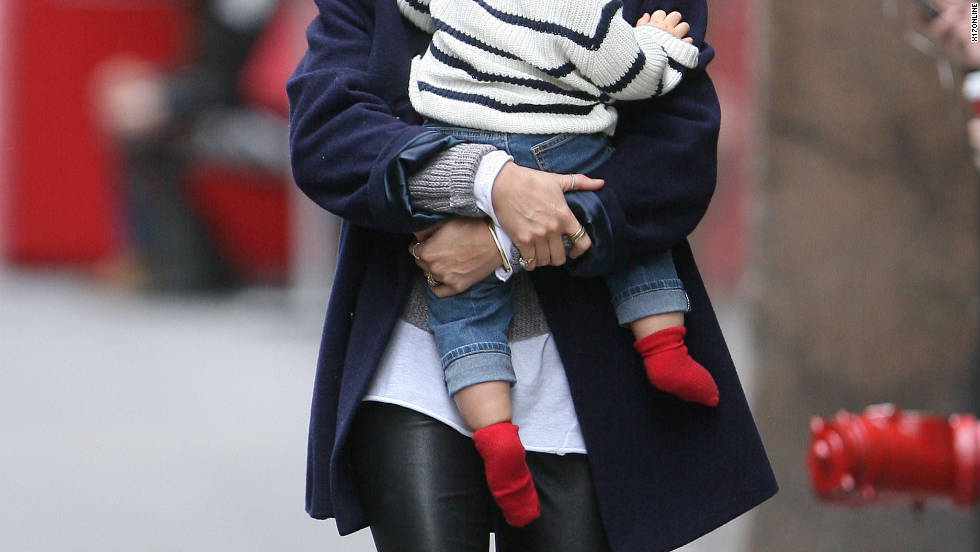 Miranda Kerr roams around New York City with her son.