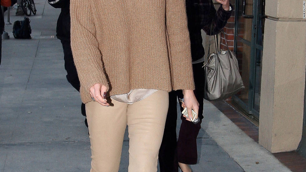 Katherine Heigl leaves a medical building in Los Angeles.