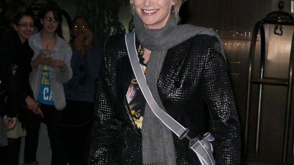 Jane Lynch roams around New York City.