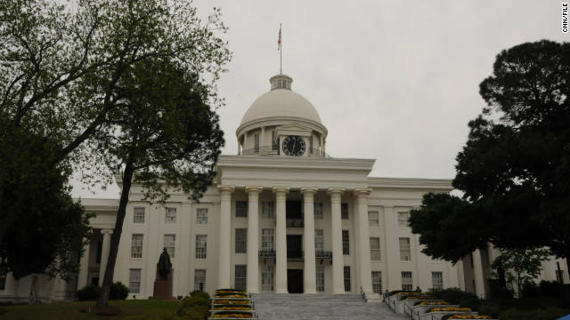 Alabama's state capitol stands in the heart of Birmingham.