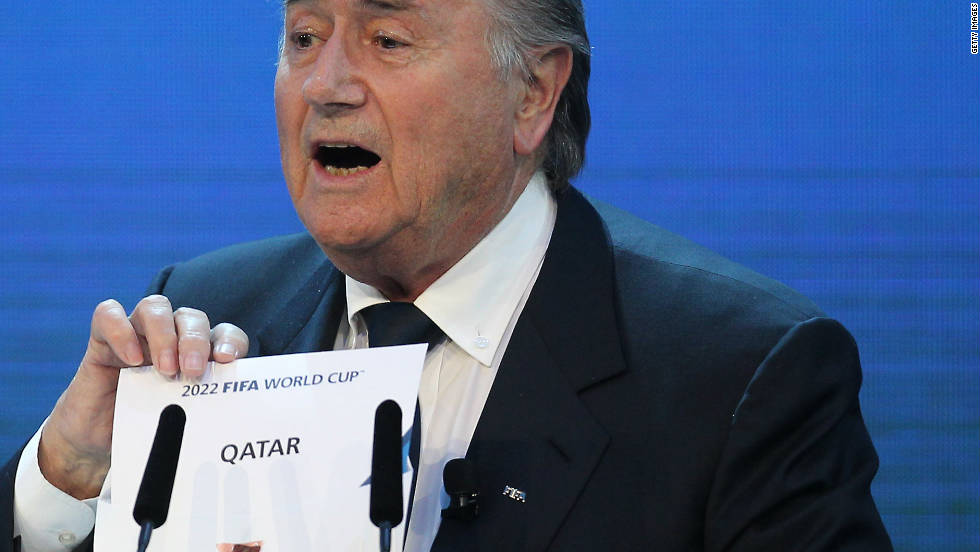 "In December 2010, Blatter was heavily criticized for suggesting gay football fans should ""refrain from sexual activity"" if they wished to attend the 2022 World Cup in Qatar, where homosexuality is illegal. Blatter later apologized and said it had not been his intention to offend or discriminate."
