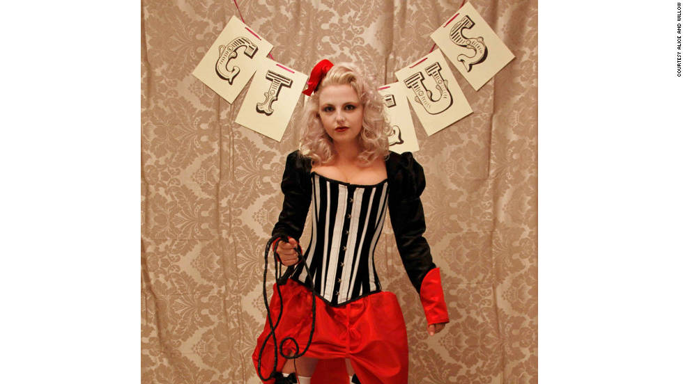 Charlotte Scott's ringmaster costume, available from her Alice and Willow store.
