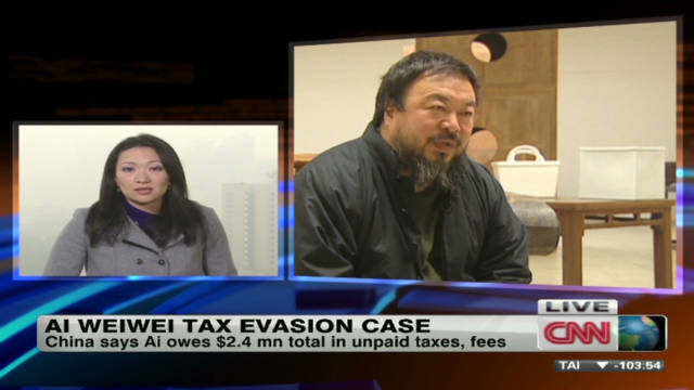 Ai Weiwei tackles tax bill