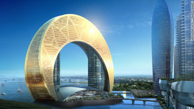 Half moon rising: Hotel Crescent, planned for Baku's shoreline, looks more Dubai than Caspian.